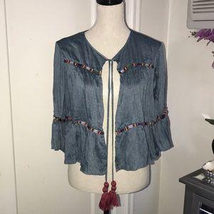 Zara woman bohemian blouse